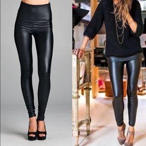 41f7c5a1e Pants - NWT Slim & Sexy Black faux vegan leather leggings!